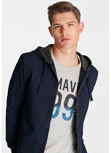 Mavi Fermuarlı Sweatshirt Lacivert